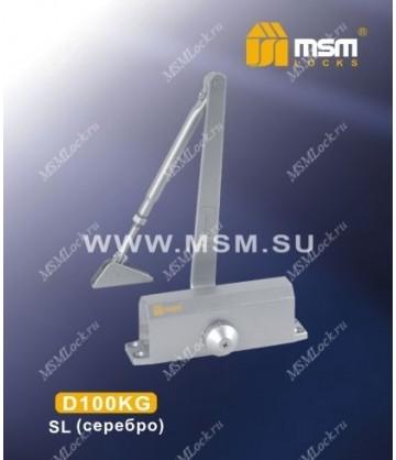 Доводчик дверной MSM D100KG Серебро (SL)