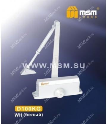 Доводчик дверной MSM D100KG Белый (WH)