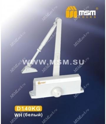 Доводчик дверной MSM D140KG Белый (WH)