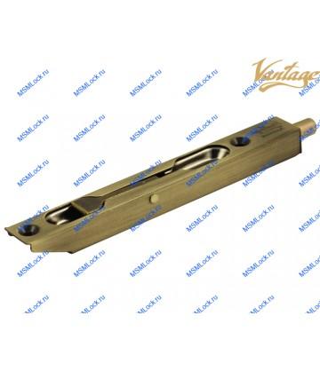 Торцевой шпингалет Vantage LX140 AB бронза