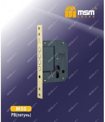 Замок врезной MSM M50 Полированная латунь (PB)
