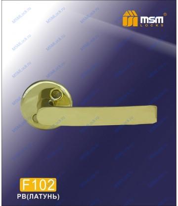 Ручка для финских дверей F102 Полированная латунь (PB)