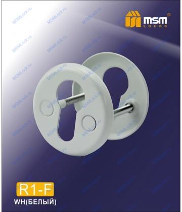 Накладка под цилиндр R1-F Белый (WH)