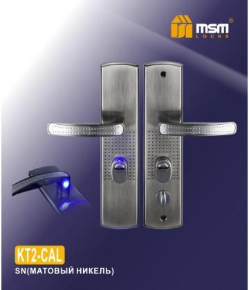 Ручка для китайских дверей KT2-CA-SN левая (автомат, с подсветкой)