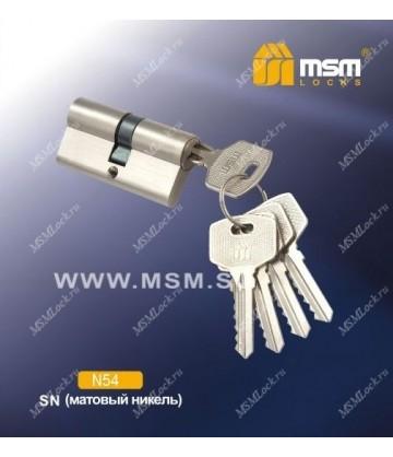 Цил. мех. простой ключ-ключ N54mm SN (Матовый никель) Матовый никель (SN)