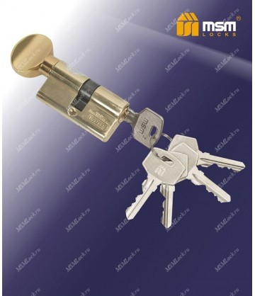 Цилиндровый механизм, латунь Простой ключ-вертушка NW70 мм Полированная латунь (PB)
