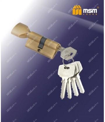 Цилиндровый механизм, латунь Простой ключ-вертушка NW70 мм Коричневый (BR)