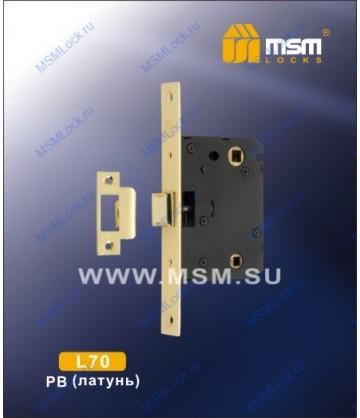 Врезной замок MSM L70 Полированная латунь (PB)