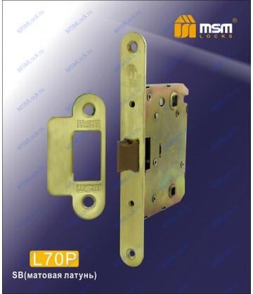 Врезной замок MSM L70P Матовая латунь (SB)