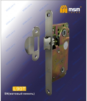 Дверной замок MSM L90T Матовый никель (SN)