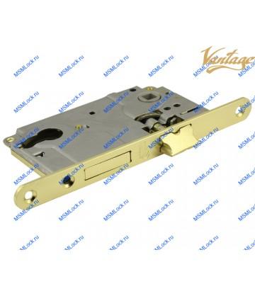 Межкомнатный замок Vantage ML85 SB матовое золото (под цилиндр)