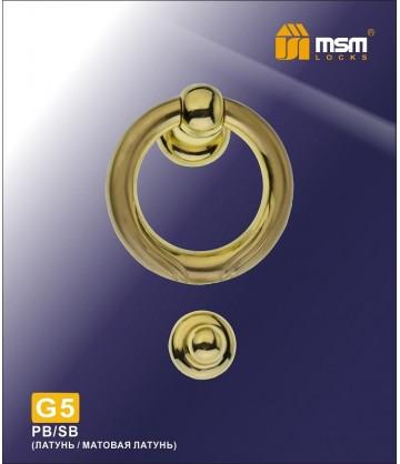 Дверной молоток G5 золото