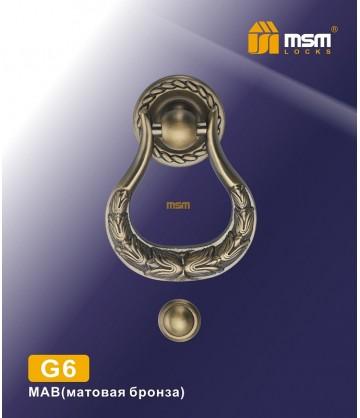 Дверной молоток G6 матовая бронза
