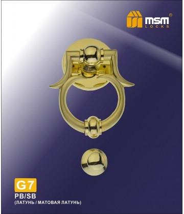 Дверной молоток G7 золото