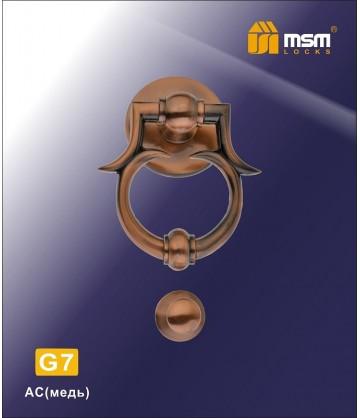 Дверной молоток G7 медь