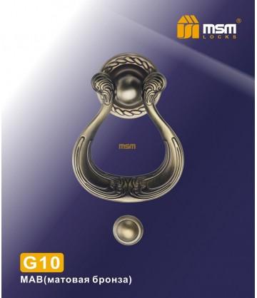 Дверной молоток G10 матовая бронза
