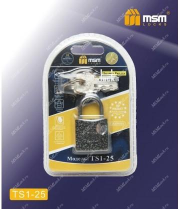 Навесной замок MSM TS1 в Блистере размер 25