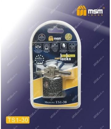 Навесной замок MSM TS1 в Блистере размер 30