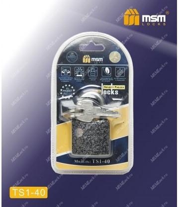 Навесной замок MSM TS1 в Блистере размер 40