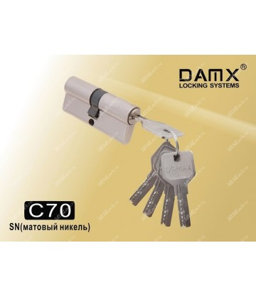 Цилиндровый механизм DAMX Перфорированные ключ-ключ C70 мм Матовый никель (SN)