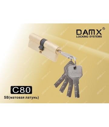 Цилиндровый механизм DAMX Перфорированные ключ-ключ C80 мм Полированная латунь (PB)