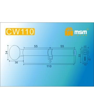 CW110 мм Матовый никель (SN)