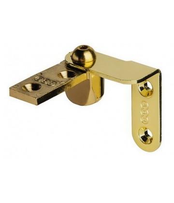 Пяточная (торцевая, угловая) скрытая петля AGB 2R Е10006.41.03 комплект 2 шт. золото