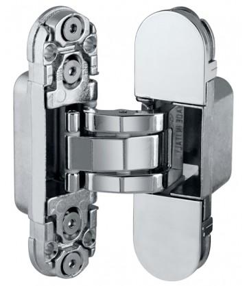 Скрытая дверная петля AGB Eclipse 2.0 1шт+комплект накладок хром