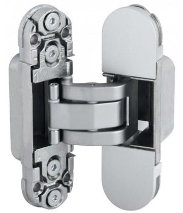 Скрытая дверная петля AGB Eclipse 2.0 1шт+комплект накладок матовый хром