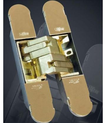 Петля дверная скрытого монтажа ARCHIE SILLUR S-130 P.GOLD, золото, 3D регулировка, 1шт