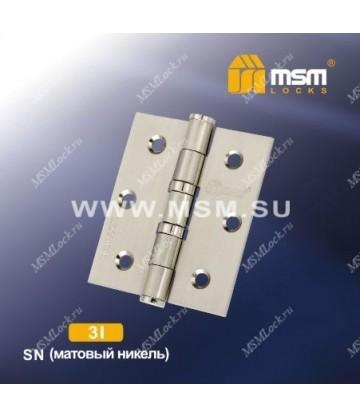 Петля универсальная 75 мм без колпачка MSM 3I Матовый никель (SN)