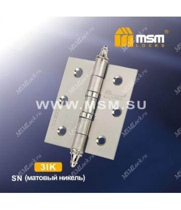 Петля универсальная 75 мм с колпачком MSM 3IK Матовый никель (SN)