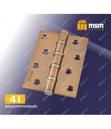 Петля MSM универсальная 100 мм без колпачка 4I Коричневый (BR)