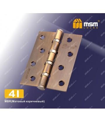 Петля MSM универсальная 100 мм без колпачка 4I Матовый коричневый (MBR)