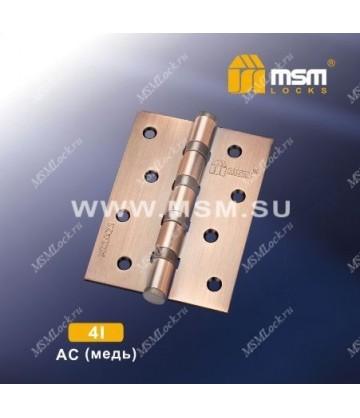Петля MSM универсальная 100 мм без колпачка 4I Медь (AC)