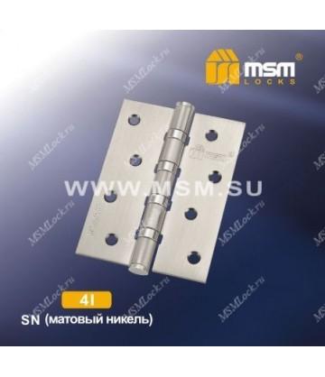 Петля MSM универсальная 100 мм без колпачка 4I Матовый никель (SN)