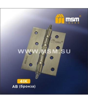 Петля MSM универсальная 100 мм с колпачком 4IK Бронза (AB)