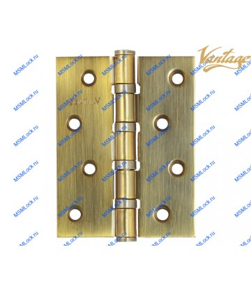 Петля Vantage B4 100x75x3 mm AB бронза (универсальная)