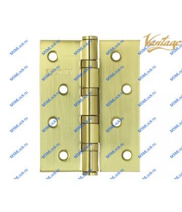 Петля Vantage B4 100x75x3 mm SB матовое золото (универсальная)