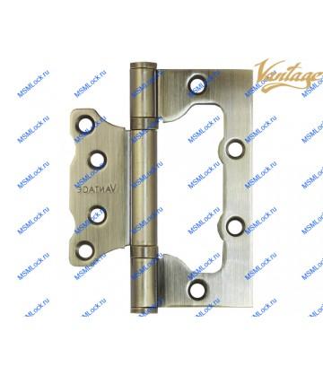 Петля Vantage 2BB 100x75x2,5 mm AB бронза (без врезки)