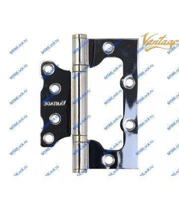 Дверная петля бабочка Vantage B2 CP полированный хром с подшипником (без врезки)