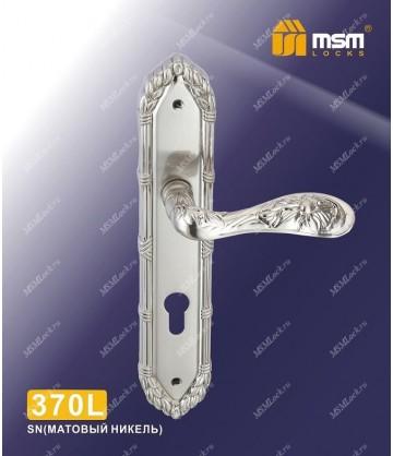 Ручка на планке MSM 370 L Матовый никель (SN)