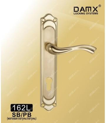Ручка на планке DAMX 162L Матовая латунь / Полированная латунь (SB/PB)