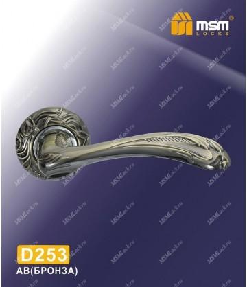 Ручка MSM на розетке D253 Бронза (AB)