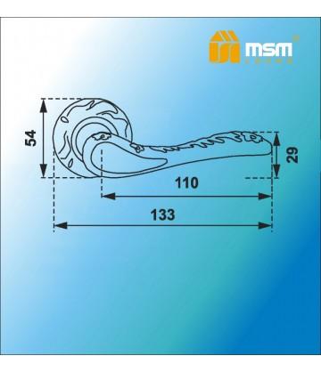 Ручка MSM на розетке D250 Бронза (AB)