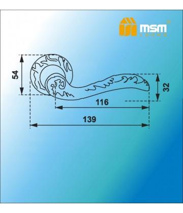 Ручка MSM на розетке D251 Полированная латунь / Матовая латунь (PB/SB)