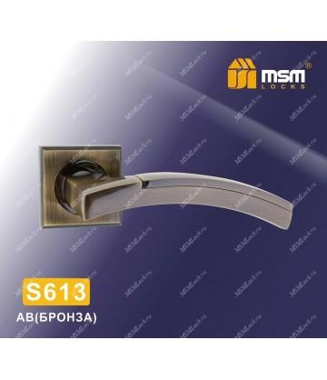 Ручка на розетке S613 Бронза (AB)