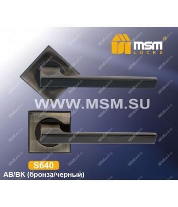Ручка на розетке S640 Бронза (AB)