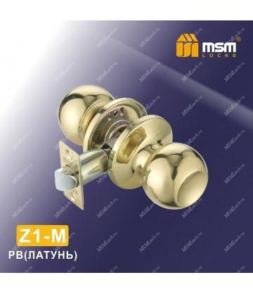 Ручка MSM защелка (шариковая) Z1 Полированная латунь (PB) Межкомнатная (M)
