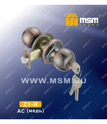 Ручка MSM защелка (шариковая) Z1 Медь (AC) Входная (R)